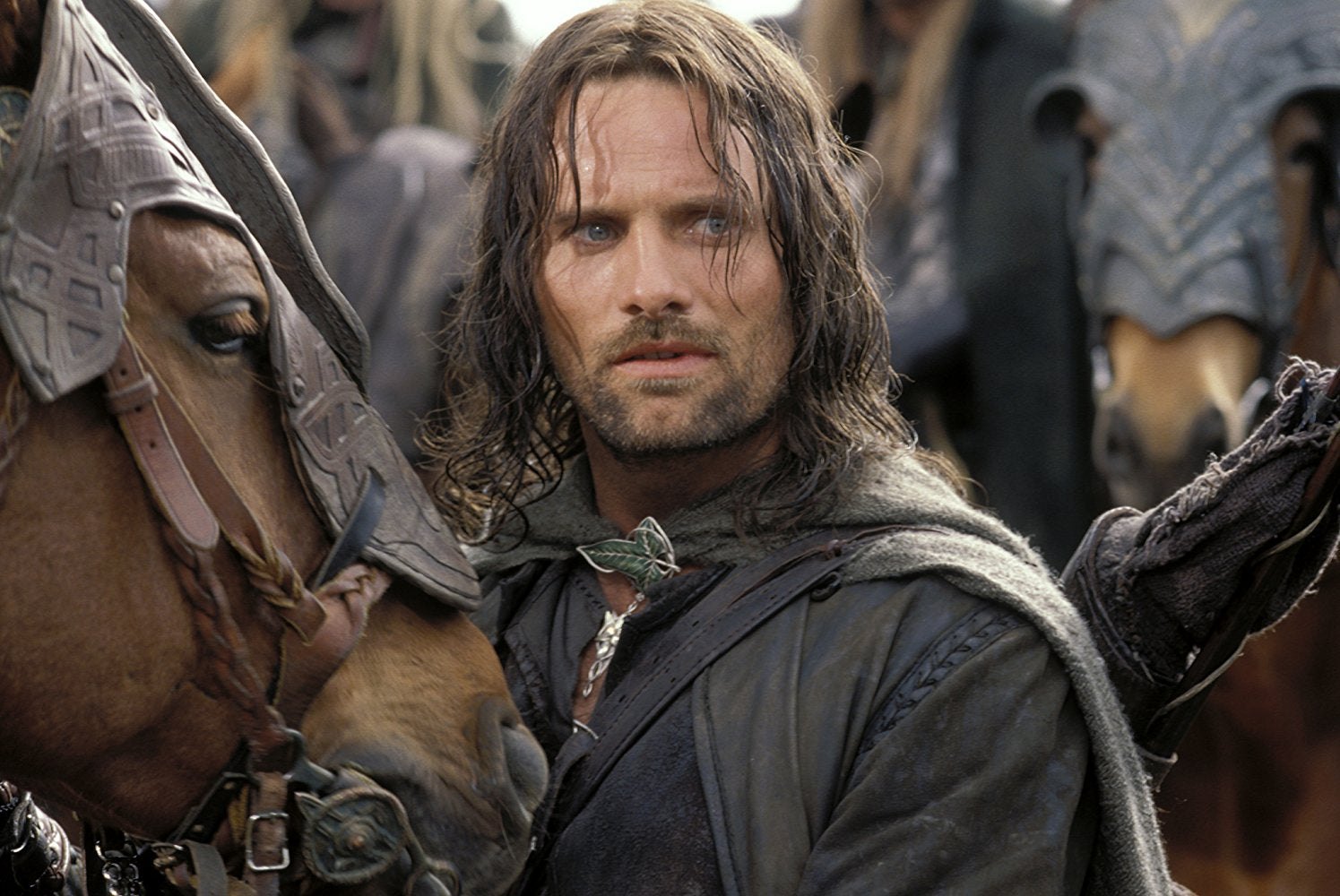 Viggo Mortensen as Aragorn in Lord of the Rings. Also, a horse.