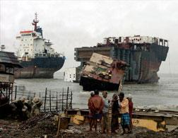 A ship-breaking yard. Click image to expand.