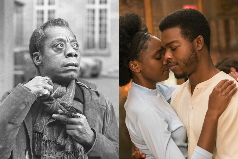 James Baldwin; a scene from the film adaptation of If Beale Street Could Talk.