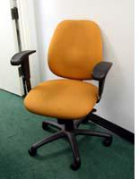 Our hideous orange office chairs