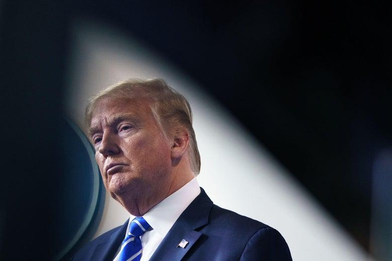 Trump looking serious
