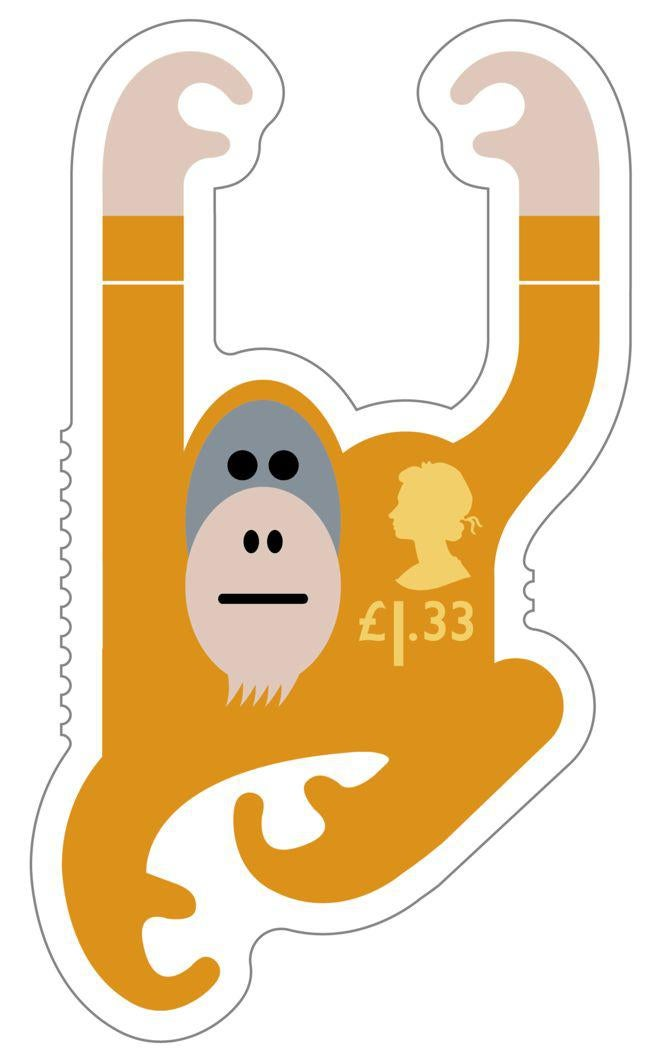 Animail Orangutan stamp 400%