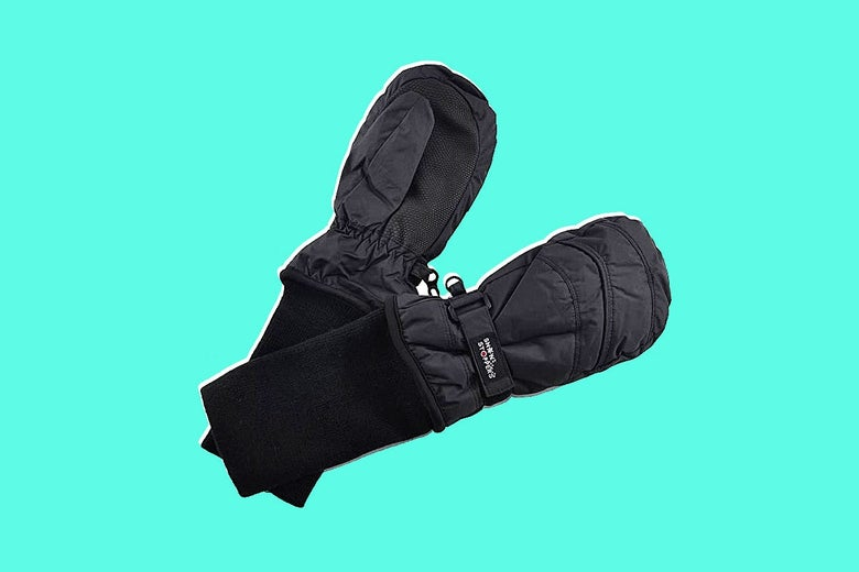 A pair of SnowStoppers winter mittens.