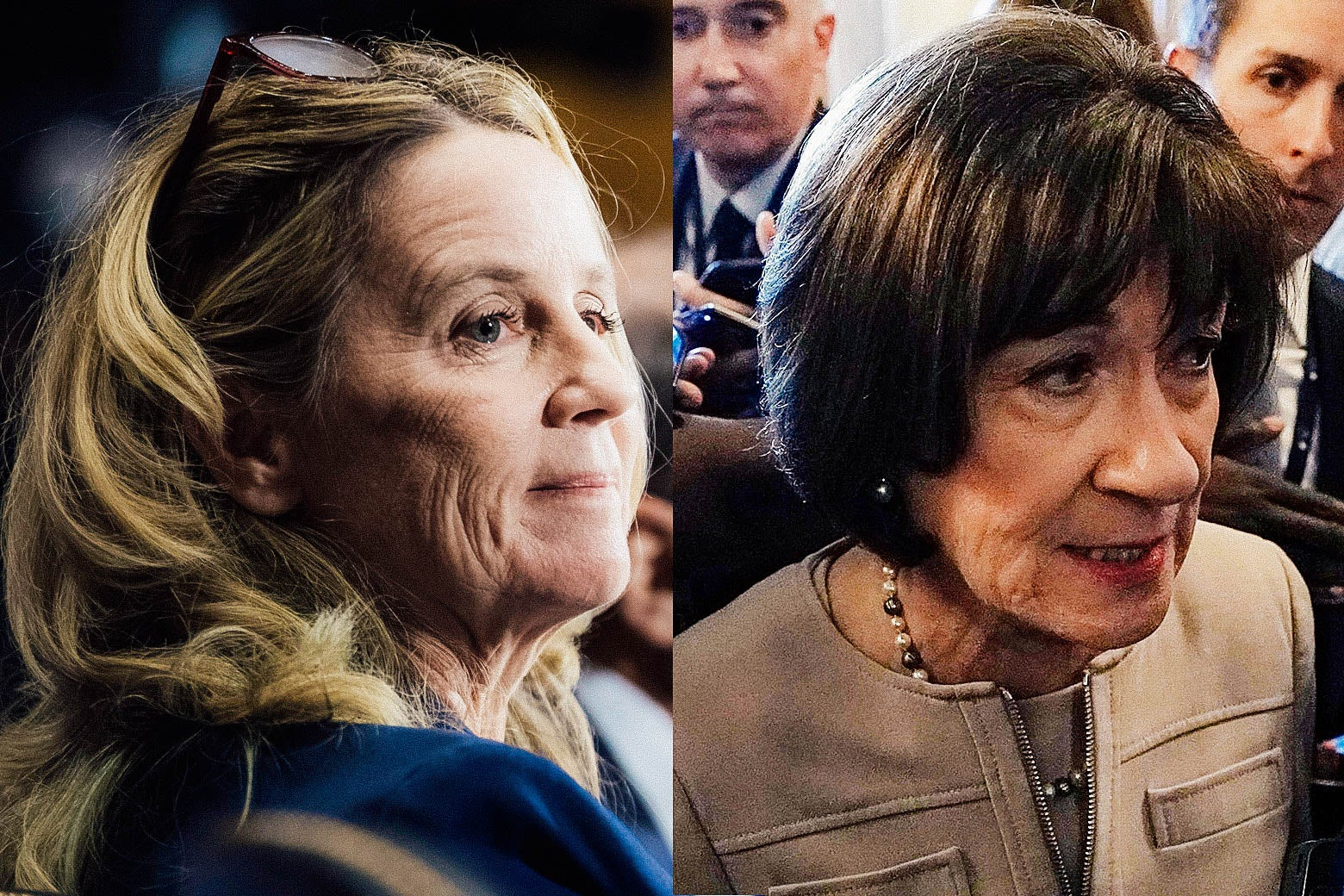 Christine Blasey Ford and Susan Collins.