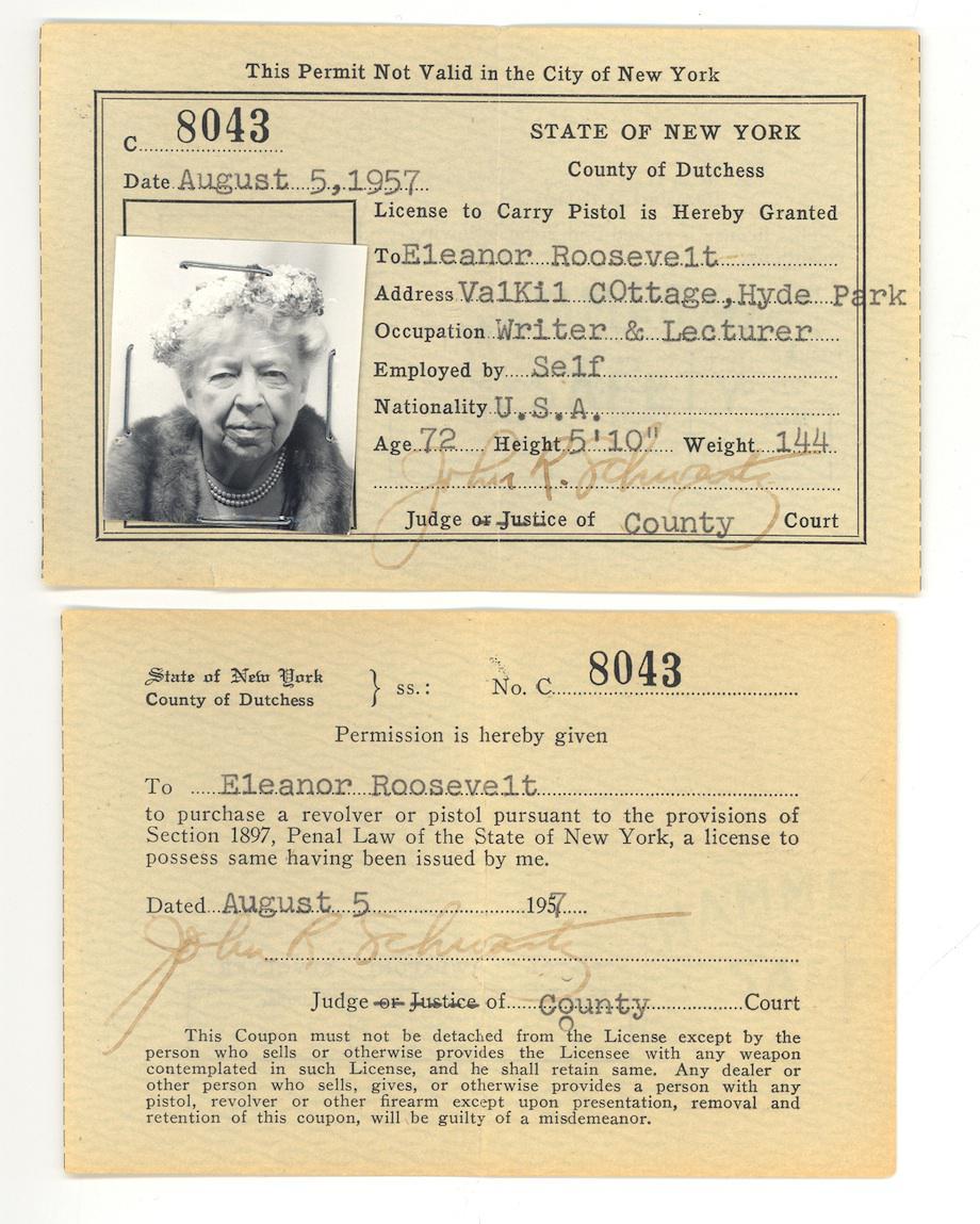 Eleanor Roosevelt License