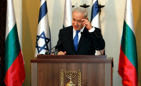 Israeli Prime Minister Benjamin Netanyahu gestures during a joint press conference in Jerusalem in September.
