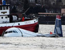 US Airways plane crash-landed in the Hudson River. Click image to expand.