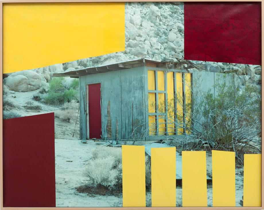 Sam Falls, Untitled (House, Red and Yellow, Joshua Tree, CA), 2012. Courtesy the artist and M + B Gallery.