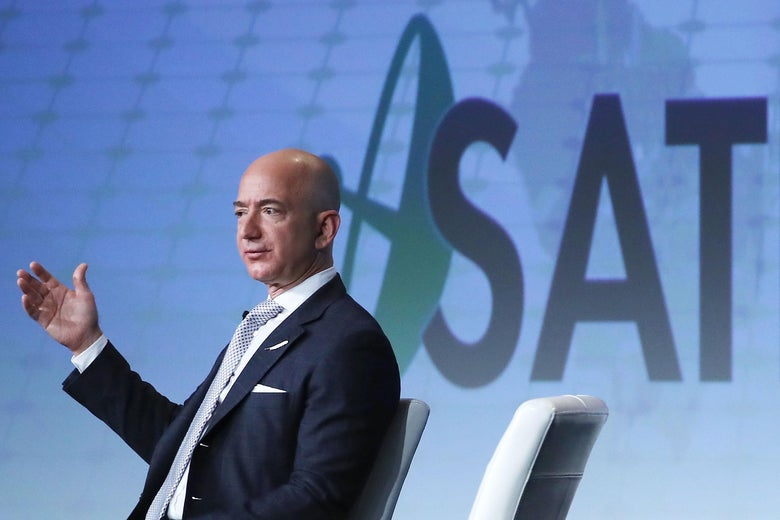 """The solar system can easily support a trillion humans. And if we had a trillion humans, we would have a thousand Einsteins and a thousand Mozarts,"" Bezos said."