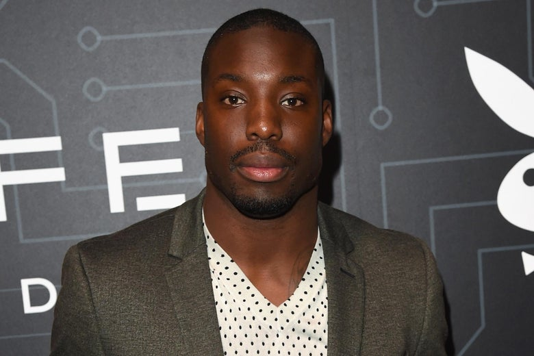 SAN FRANCISCO, CA - FEBRUARY 05:  NFL player Vontae Davis arrives at The Playboy Party during Super Bowl Weekend, which celebrated the future of Playboy and its newly redesigned magazine in a transformed space within Lot A of AT&T Park on February 5, 2016 in San Francisco, California.  (Photo by Jason Merritt/Getty Images for Playboy)