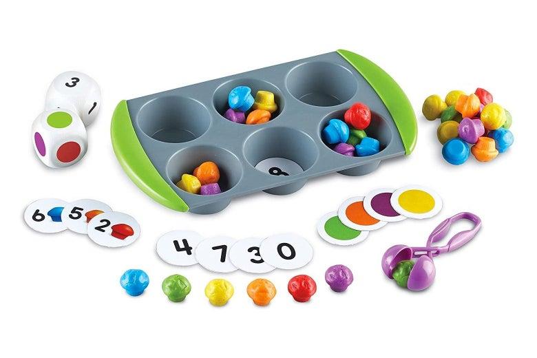 The mini muffin tin game.