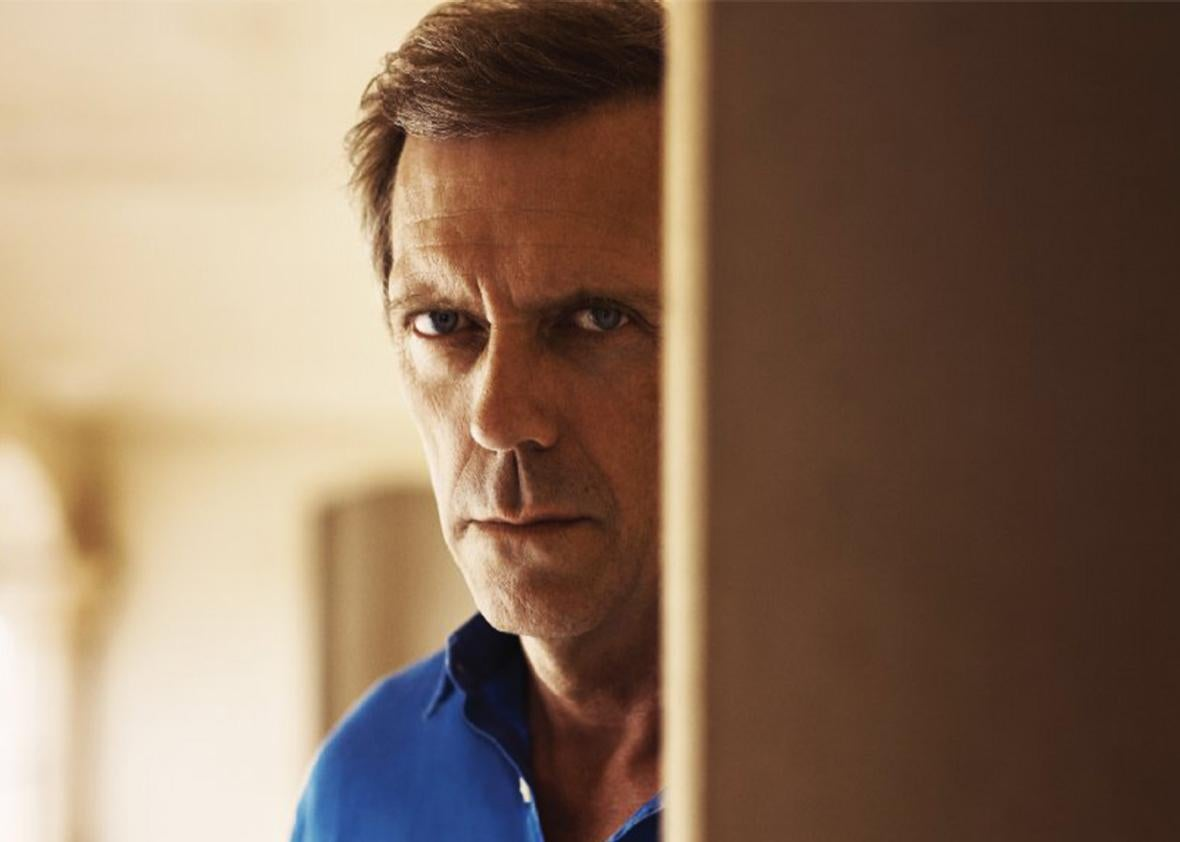 Still of Hugh Laurie in The Night Manager.