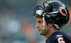 Jay Cutler #6 of the Chicago Bears. Click image to expand.