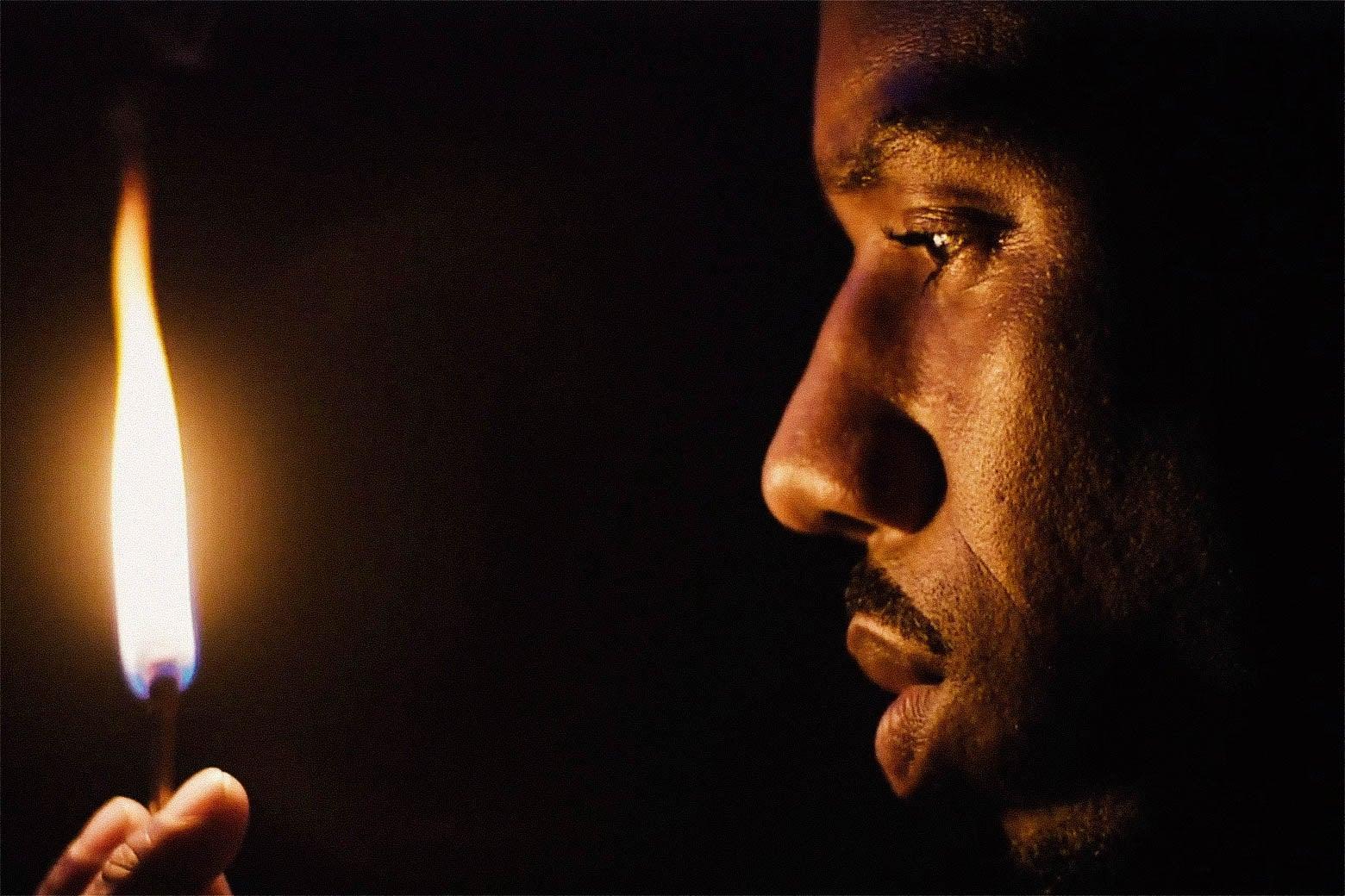 Michael B. Jordan in Fahrenheit 451.