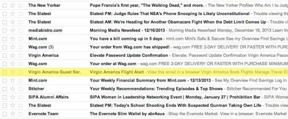 Gmail updates tab
