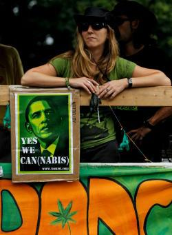 A woman supports legalizing marijuana