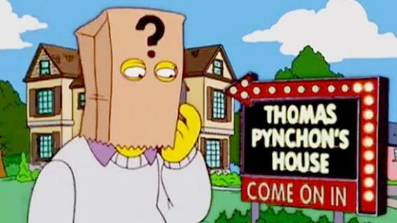 Thomas Pynchon guest starring on The Simpsons, 2004.