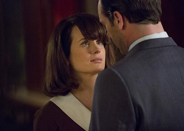Elizabeth Reaser as Diana and Jon Hamm as Don Draper, Mad Men _ ,Elizabeth Reaser as Diana and Jon Hamm as Don Draper, Mad Men _ Season 7, Episode 9.