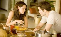 Still of Kristen Stewart and Robert Pattinson in The Twilight Saga: Breaking Dawn - Part 1