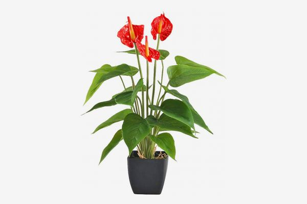 GTIDEA Artificial Anthurium Potted Plant