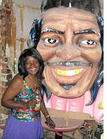 """Antoinette with the """"big head."""" Click image to expand."""