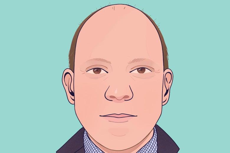39-year-old white balding man.