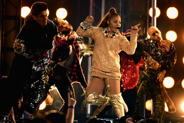 Janet Jackson onstage during the 2018 Billboard Music Awards on May 20 in Las Vegas.