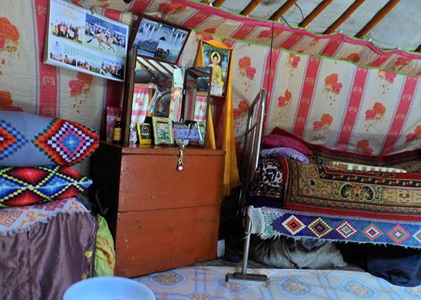 Mongolia ger inside