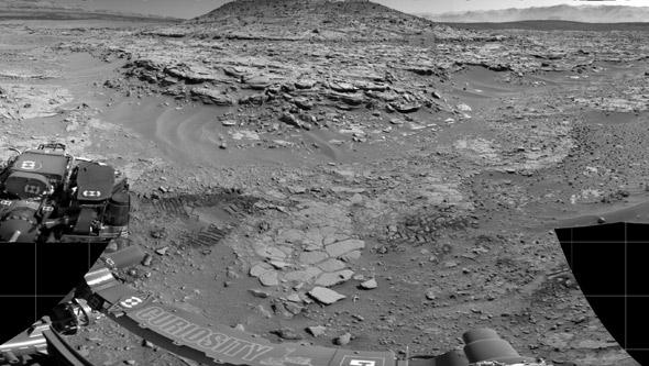 Curiosity view of Mars