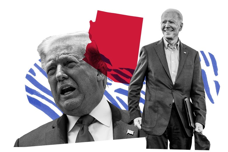 Donald Trump, Joe Biden, and the state of Arizona.