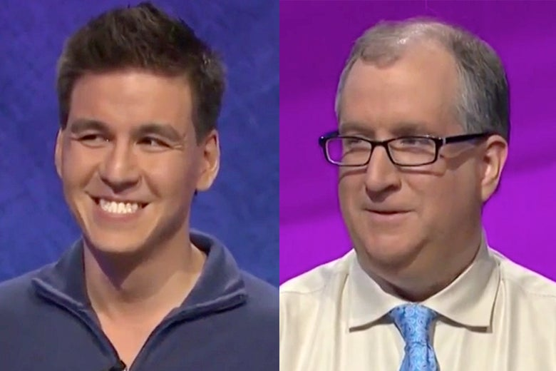 James Holzhauer and Adam Levin.