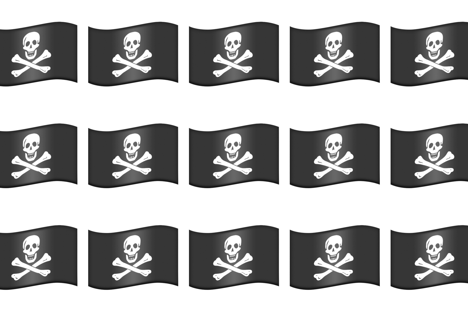 Pirate flag emojis.