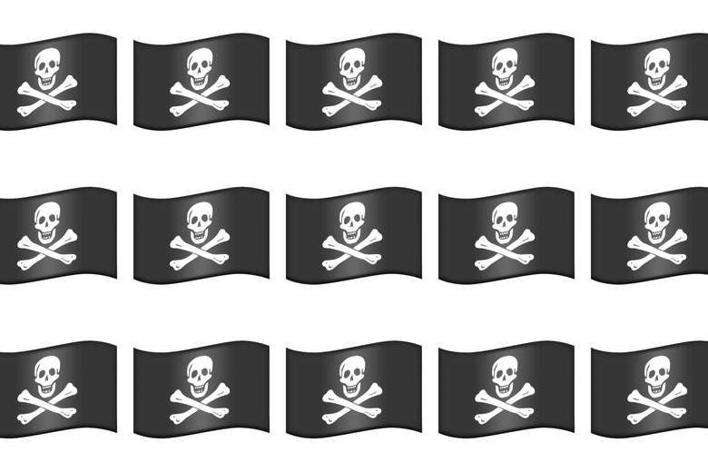 Pirate flag emojis.