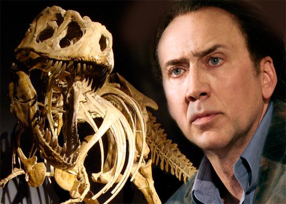 Tarbosaurus bataar and Nicholas Cage
