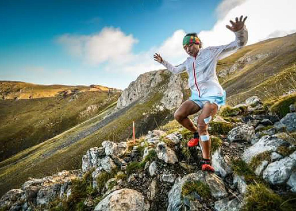 Mira Rai competes in the 2015 Ultra Pirineu trail race in Spain