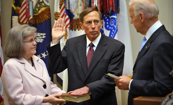 Gen. Petraeus, former head of the allied forces in Afghanistan, takes the oath of office as the next director of the Central Intelligence Agency.