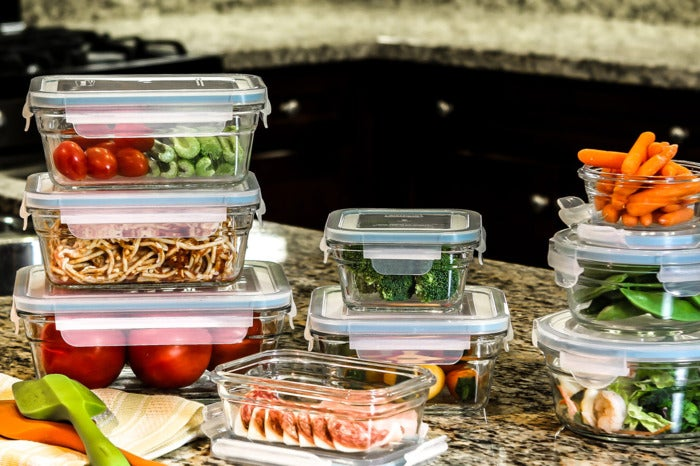 Glasslock 6-Piece Rectangle Oven Safe Container Set.