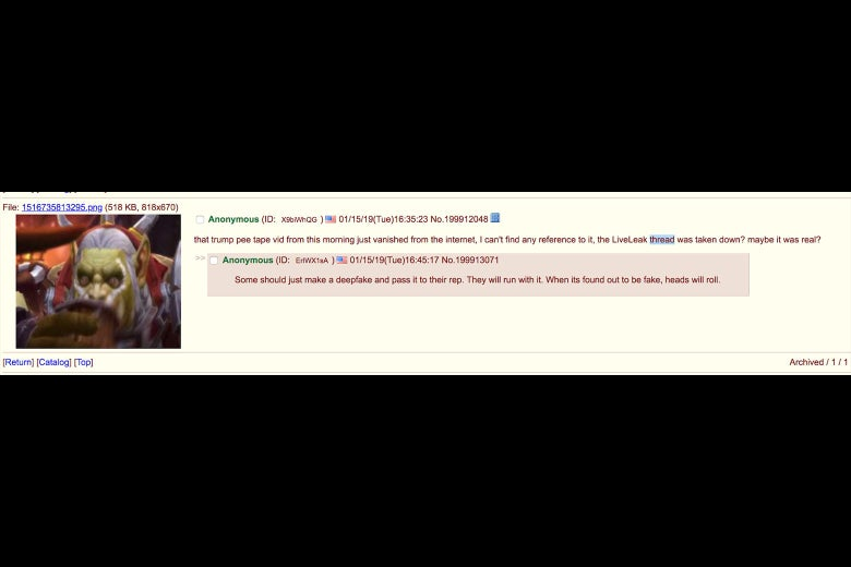 screenshot of a 4chan post