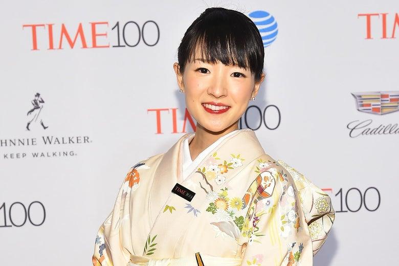 Marie Kondo wears a kimono while attending the 2016 Time 100 Gala.