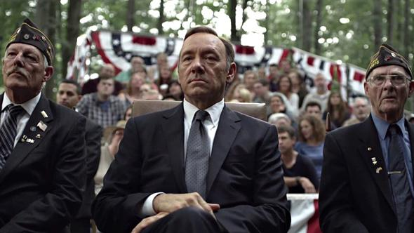 Kevin Spacey in House of Cards, season two.