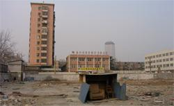 A neighborhood in Beijing, post-demolition.