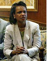 US Secretary of State Condoleezza Rice. Click image to expand.