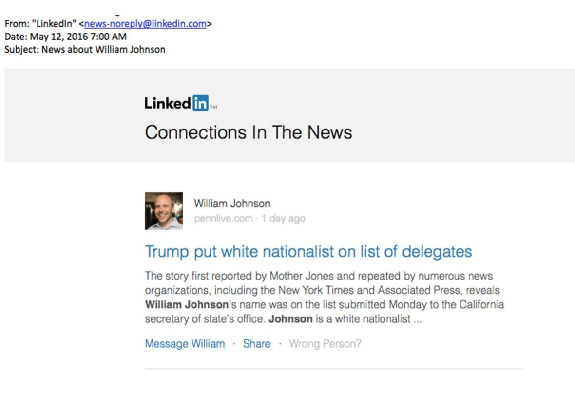 white supremacy linkedin mistake.