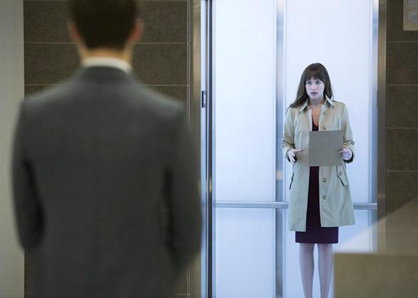 Dakota Johnson in Fifty Shades of Grey (2015).