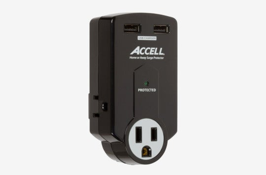 Accell 3-Outlet Travel Surge Protector.