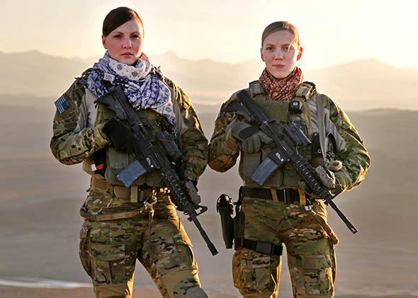 Two members of the Cultural Support Team in Afghanistan.
