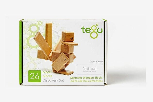 26 Piece Tegu Discovery Magnetic Wooden Block Set