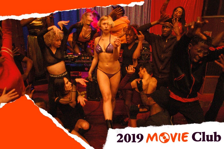 Dancers dancing at the party in Gaspar Noe's Climax.