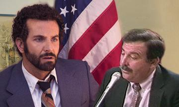 Still from American Hustle, left, and from CSPAN.
