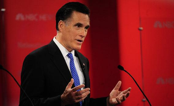Republican presidential hopefuls Mitt Romney.
